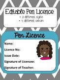 Pen Licence