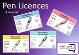 Pen Licence (Editable Powerpoint)