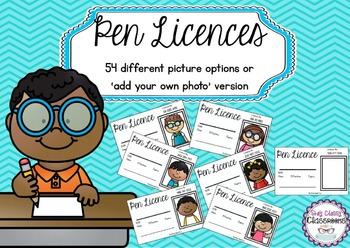 Pen Licences - Australian Spelling