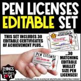 Pen Licenses BUNDLE - 10 Licenses + Certificate of Achieve