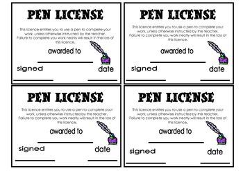 Pen License