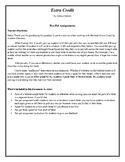 Pen Pal Activity-Extra Credit Novel