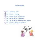 Pen Pal Checklist