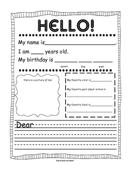 Pen Pal Friendly Letter Template by Jamie Woodward | TpT