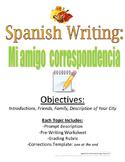 Pen Pal Spanish Writing Prompt: Mi amigo correspondencia