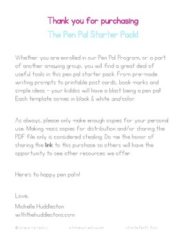 Pen Pal Starter Pack
