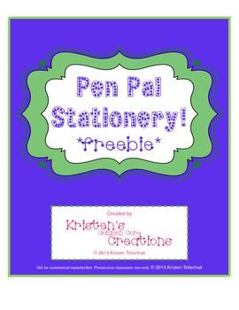 Pen Pal Stationery
