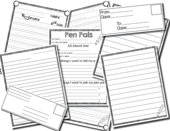 Pen Pal Writing (for primary grades)