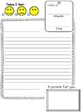 Pen Pal letter template
