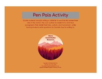 Pen Pal Activities & Worksheets   Teachers Pay Teachers