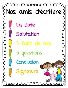 Friendly Letter Writing ~ French ~ Student Manual