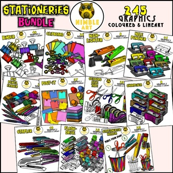 Pen, Pencil and Eraser Clipart (Stationeries)