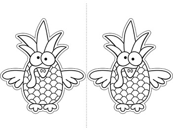Pen Pineapple Turkey Pen Topper & Coloring Page Thanksgiving Activities