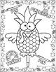 Pen Pineapple Turkey Pen Topper & Coloring Page Thanksgivi