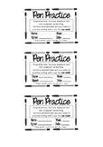 Pen Practice Award