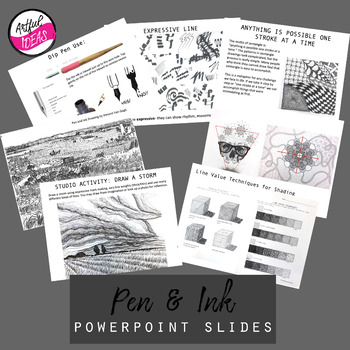 Pen and Ink Drawing Unit Powerpoint Slides