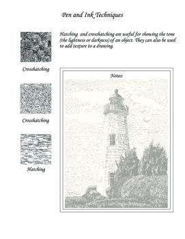 Pen and Ink Techniques Art Handout