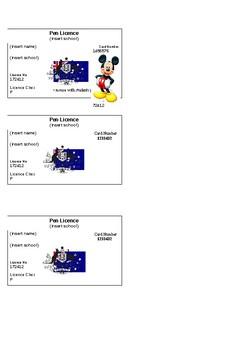 Pen licences