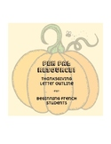 Pen pal letter outline - Thanksgiving