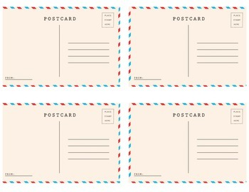 PenPal Postcards - Write and Color Post Cards to Your Pen Pals!