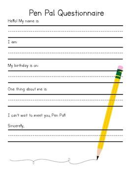 PenPal Questionnaire