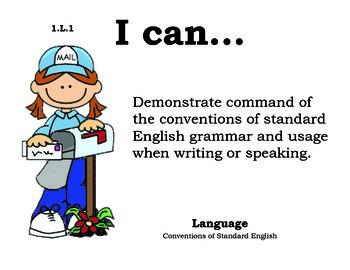 PenPals 1st grade English Common core standards posters