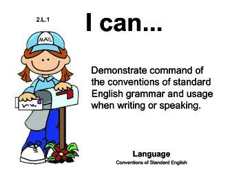 PenPals 2nd grade English Common core standards posters
