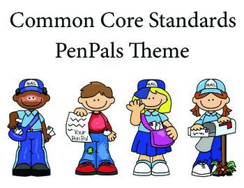 PenPals 3rd grade English Common core standards posters