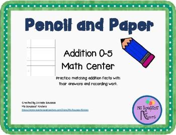 Pencil Addition 0-5