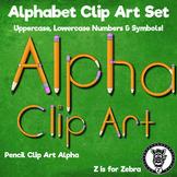Pencil Alpha / Alphabet Letter Clip Art