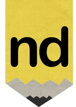 Pencil Alphabet Banner with Burlap Texture
