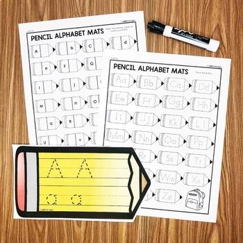 Pencil Alphabet Writing Center - Kindergarten Center