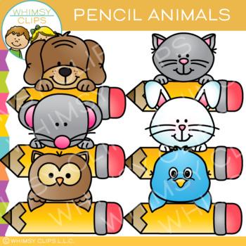Pencil Animals Clip Art