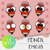 Pencil Emojis Clipart