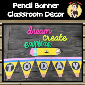 Pencil Banner Decor