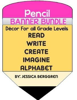 Pencil Banners Bundle
