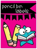 Pencil Bin Labels