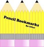 Pencil Bookmarks Printable