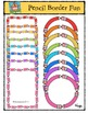 Pencil Border Fun {P4 Clips Trioriginals Digital Clip Art}