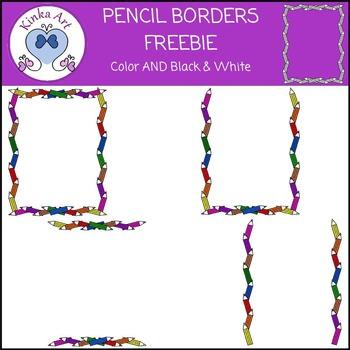 Pencil Borders FREEBIE