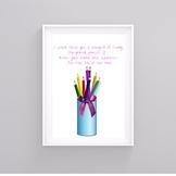 Pencil Bouquet Digital Print