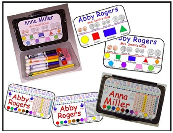 Pencil Box Name Labels (Inside and Outside Box Labels) Editable