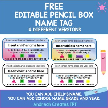 Name Plate for pencil box