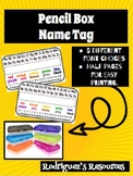 Pencil Box Name Tag