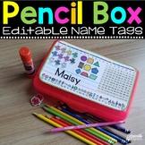 Pencil Box Name Tag - Editable