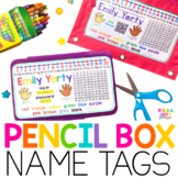 Pencil Box Name Tags - English & Spanish