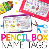 Pencil Box Name Tags English & Spanish