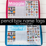 Pencil Box-Name Tags
