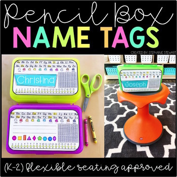 Pencil Box Name Tags PRIMARY