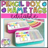 Pencil Box Name Tags: Supply Box (Editable)